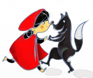 """Cappuccetto Rosso e il lupo """"cattivo"""""""