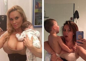Una mamma riproduce le fotografie delle mamme-star