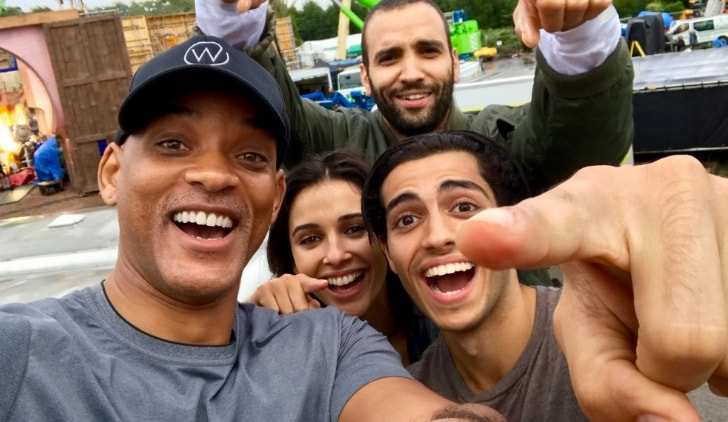 Wiil Smith, Naomi Scott, Mena Massaud e Marwan Kenzari
