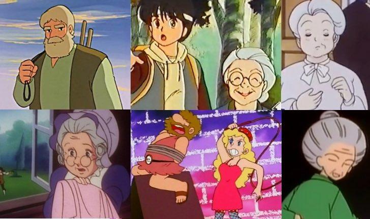 I nonni nei cartoni animati anni