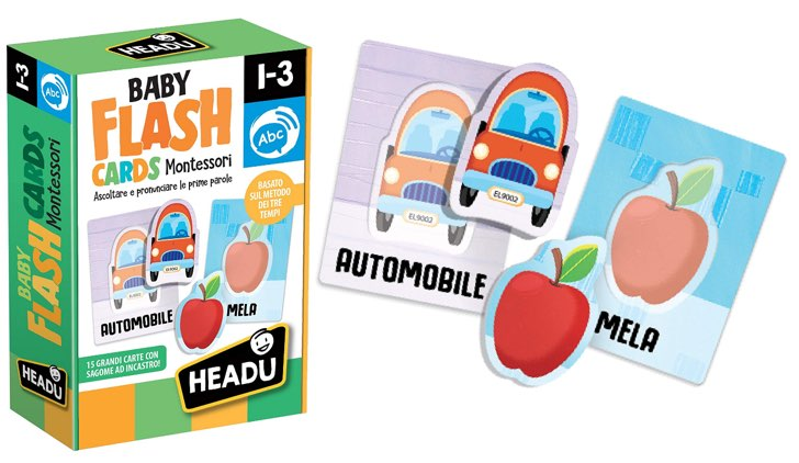 Come insegnare le prime parole ai bambini headu baby flash card
