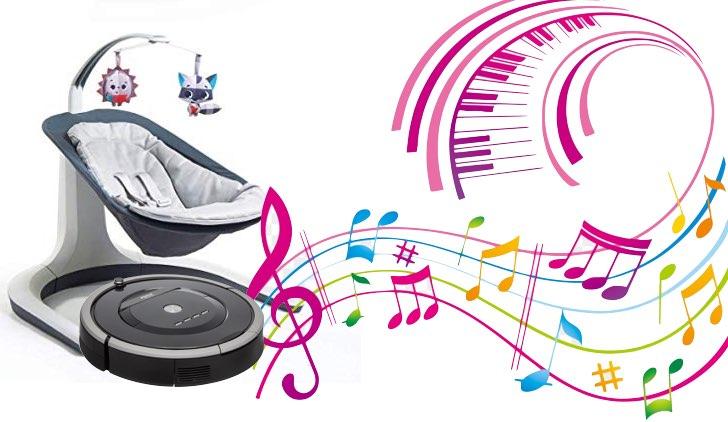 robot aspirapolvere musica